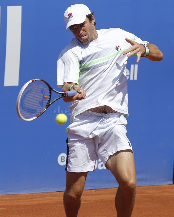 Русский теннисист Teymuraz Gabashvili стоковая фотография