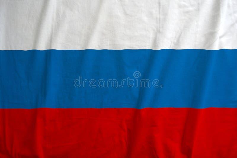 Русский флаг развевая в ветре Высококачественная иллюстрация r стоковые изображения rf