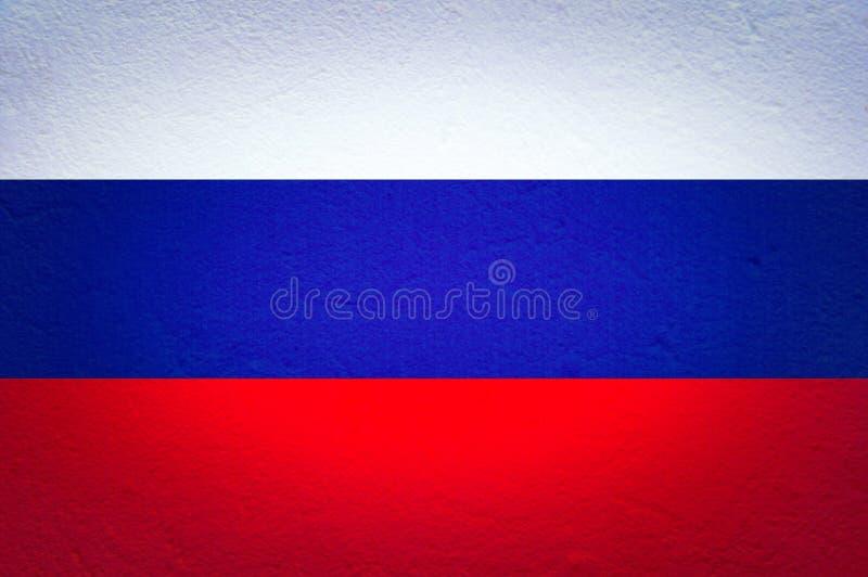 Русский флаг с текстурой заштукатуренной стены Красочный национальный флаг России Патриотизм, патриотический символ стоковые изображения
