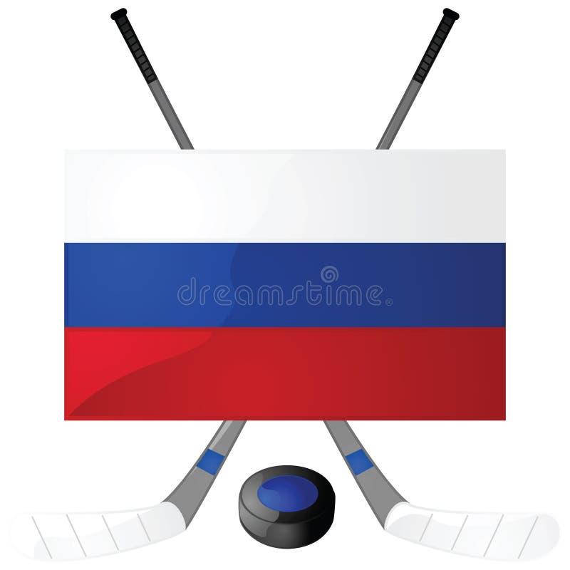 русский хоккея иллюстрация вектора