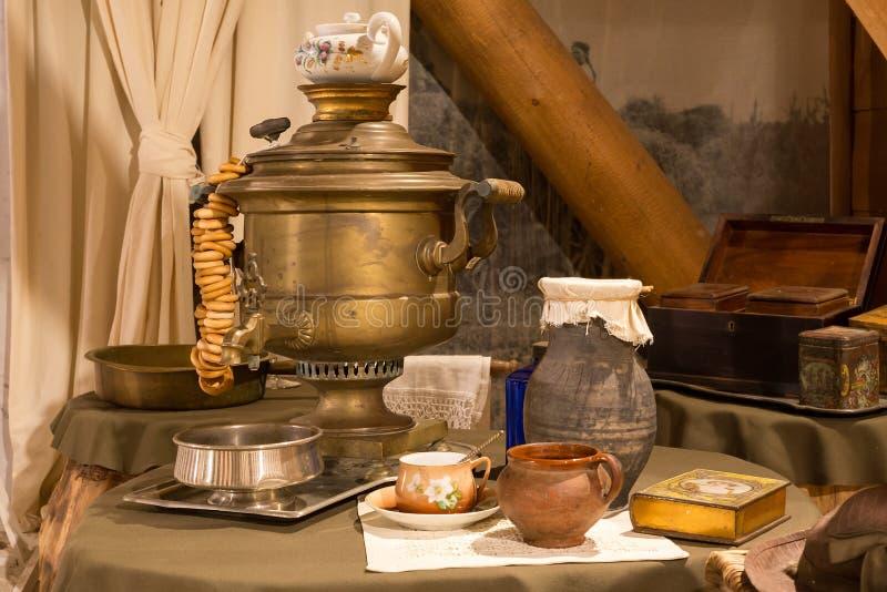 Русский чай традиции стоковое изображение rf
