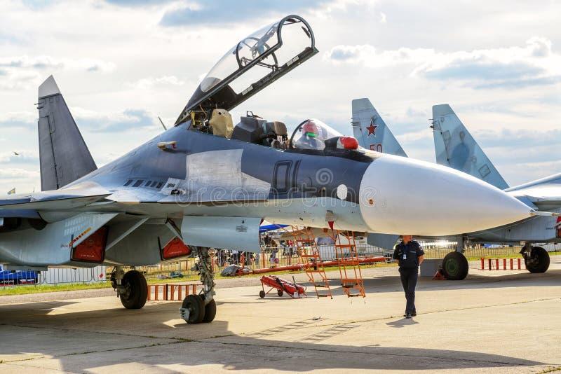 Русский multirole боец Sukhoi Su-30 стоковое фото