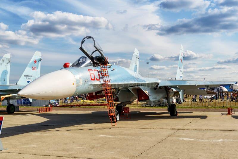 Русский multirole боец Sukhoi Su-27sm3 стоковое изображение
