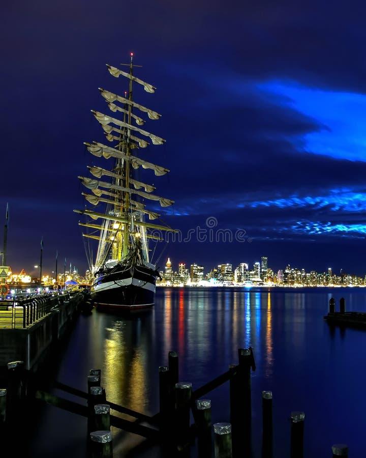 Русское парусное судно Kruzenshtern стоковое фото rf