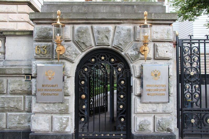 Русское посольство, Германия стоковое фото