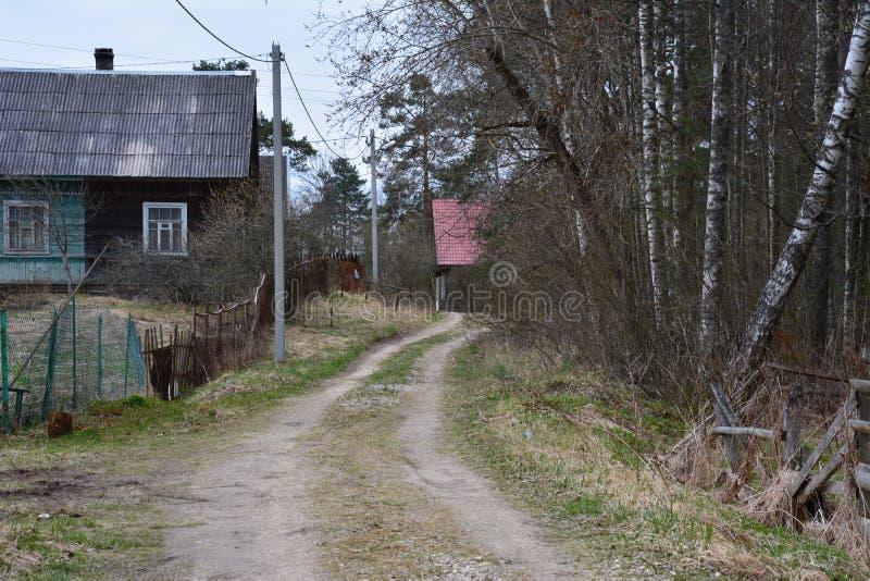Русское село стоковые изображения rf