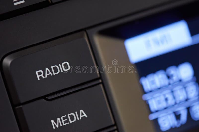 Ручка автомобильного радиоприемника стоковая фотография rf