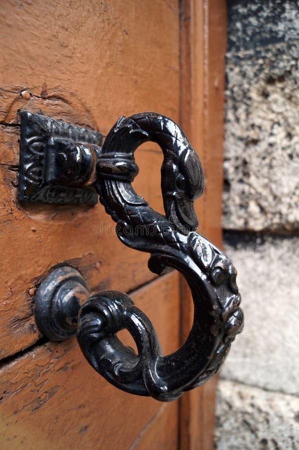 Ручка двери в форме стоковые изображения