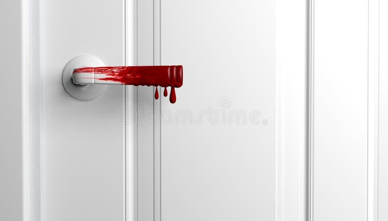 Ручка двери крови иллюстрация штока