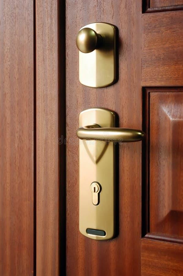 ручка двери крупного плана стоковое изображение rf