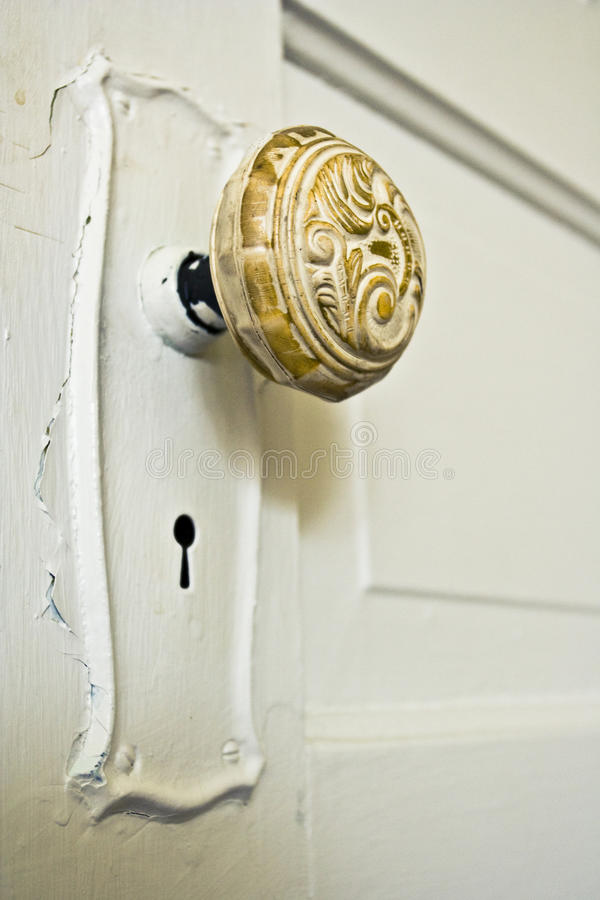 Ручка двери сбора винограда стоковая фотография