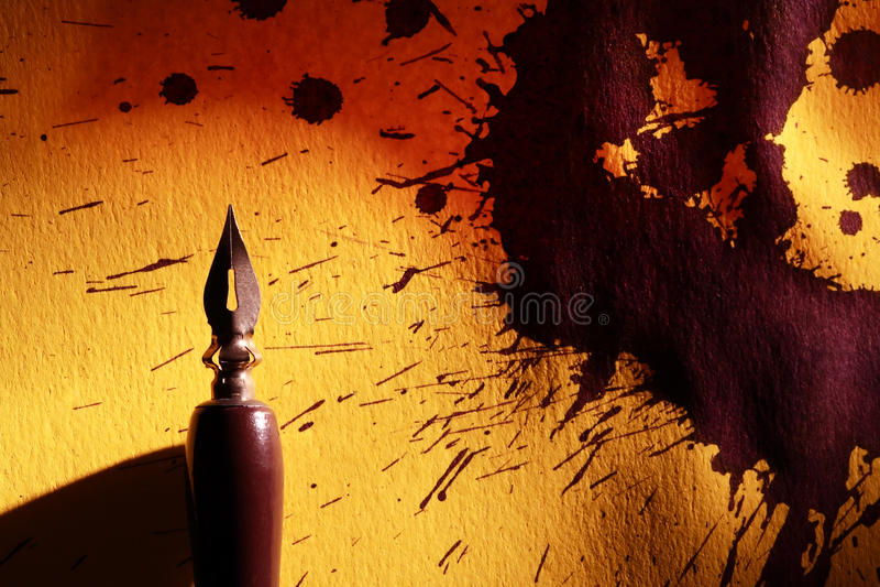 Ручка и помарки стоковое фото rf