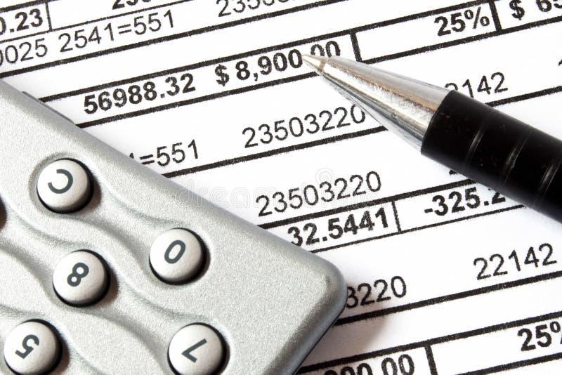 Принципиальная схема бухгалтерии стоковое изображение