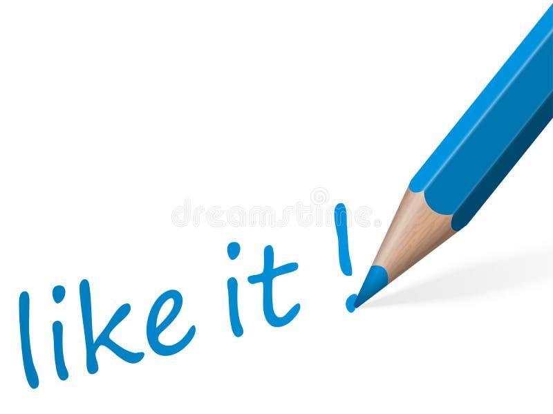 Ручка с текстом любит она иллюстрация штока