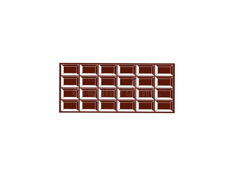 Ручка темного шоколада Весь, bited, раскрытые части, иллюстрация штока