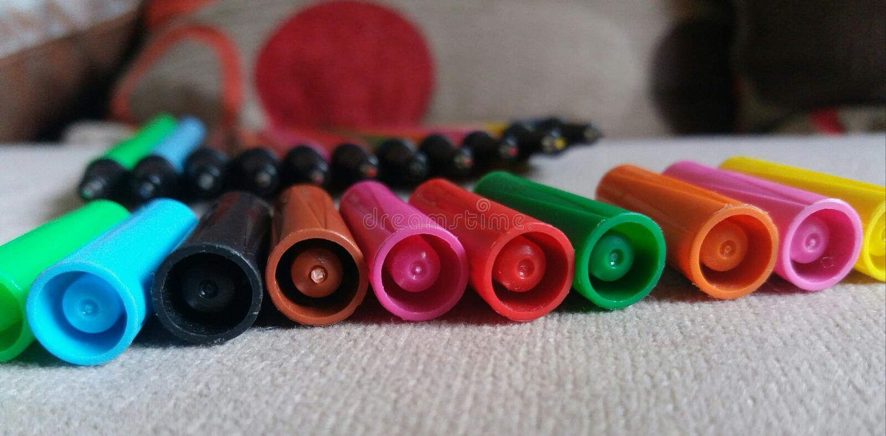 ручка цвета стоковые фото