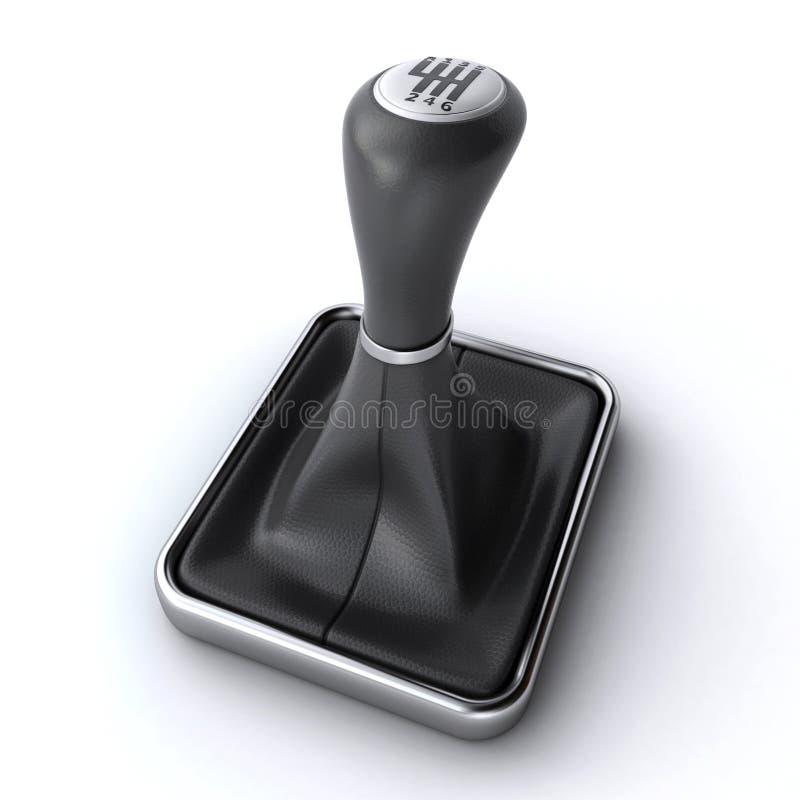 Ручка шестерни автомобиля иллюстрация штока