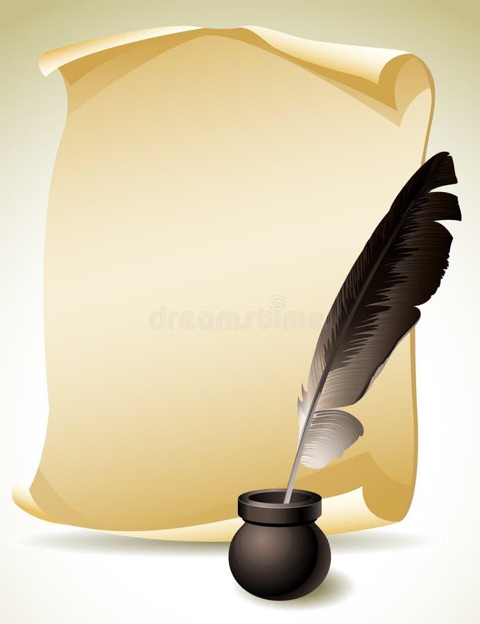 Ручка Quill иллюстрация штока