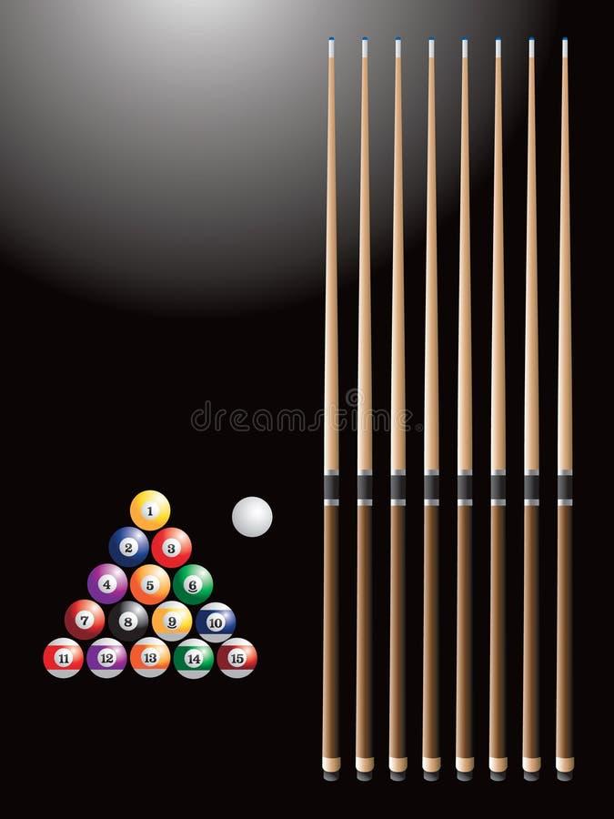 ручки биллиарда шариков бесплатная иллюстрация