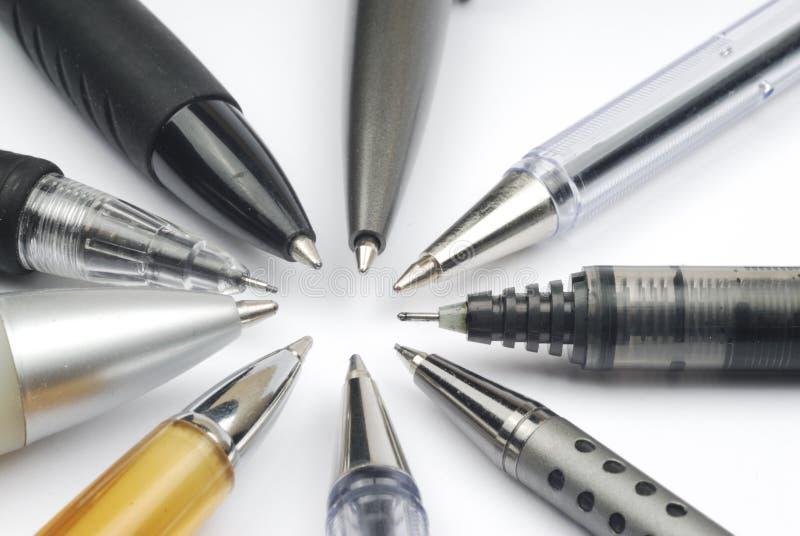 Ручки и карандаши стоковое фото rf