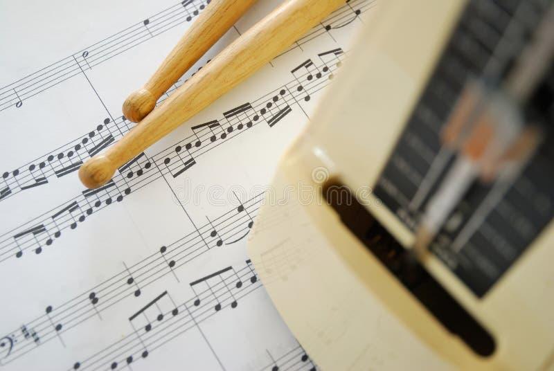 ручки счета нот метронома барабанчика стоковые изображения