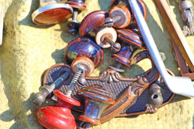 Ручки тяги ящика Блошинный стоковое фото