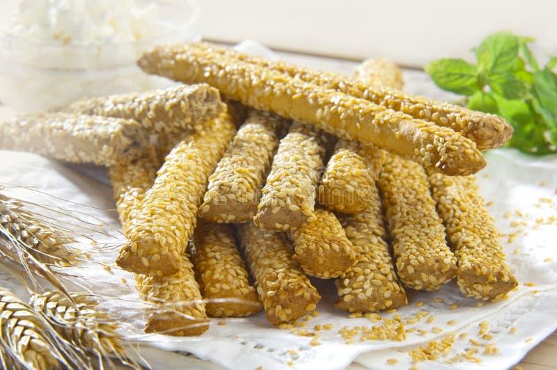 Ручки хлеба сезама стоковые фотографии rf