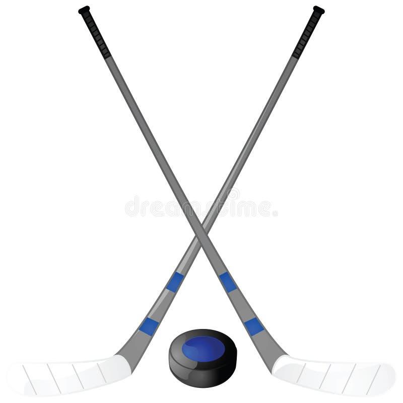 ручки шайбы хоккея бесплатная иллюстрация