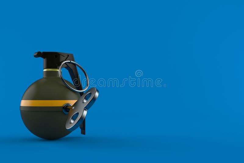 Ручная граната с ключом clockwork иллюстрация штока