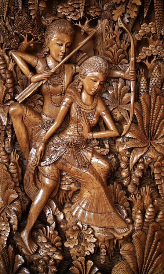 ручная картина деревянная стоковое фото rf