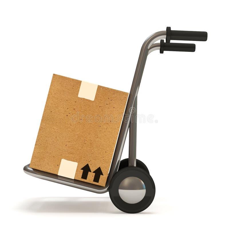 ручная тележка коробки бесплатная иллюстрация
