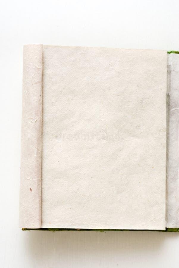ручной работы раскрытая тетрадь стоковая фотография