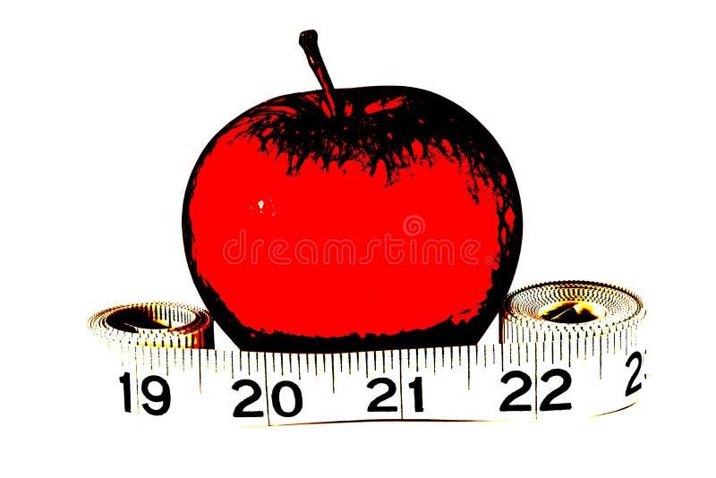 Рулетка иллюстрации Яблока иллюстрация вектора