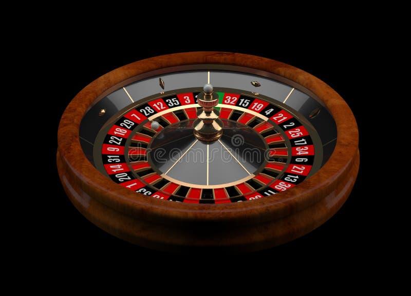Рулетка 3D казино иллюстрация вектора