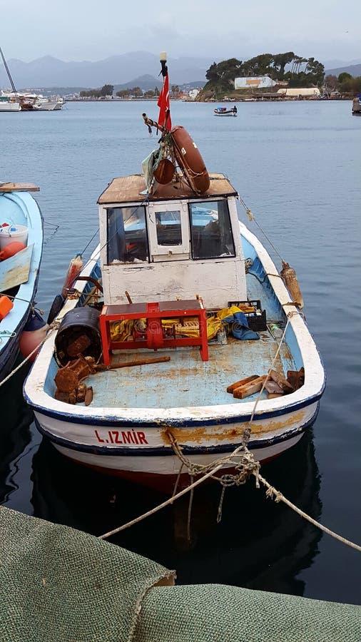 Рыбацкая лодка в Турции стоковая фотография