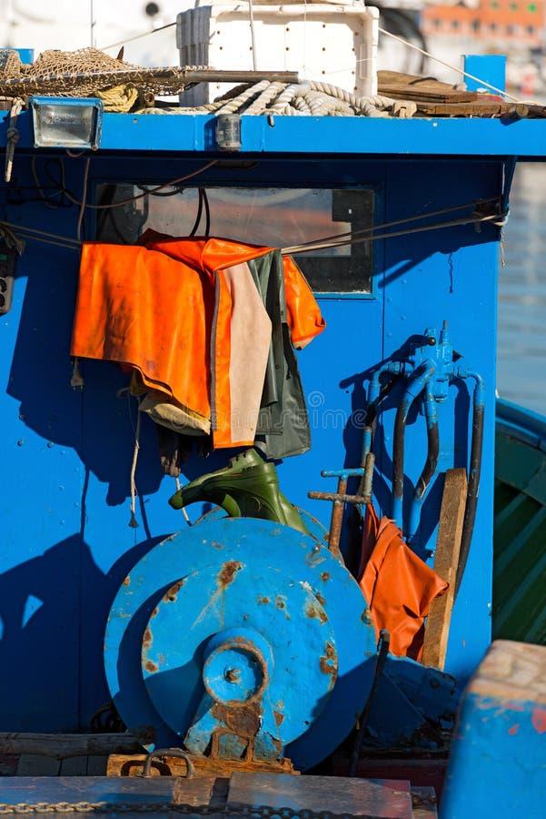 Рыбацкая лодка - Лигурия Италия стоковое фото rf