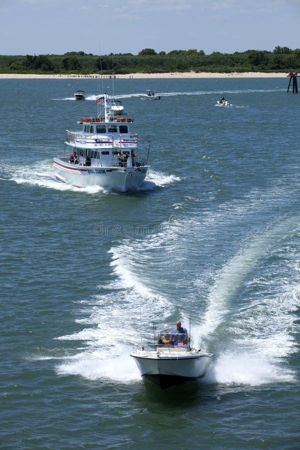 Рыбацкая лодка хартии Starlight в Wildwood, Нью-Джерси стоковая фотография