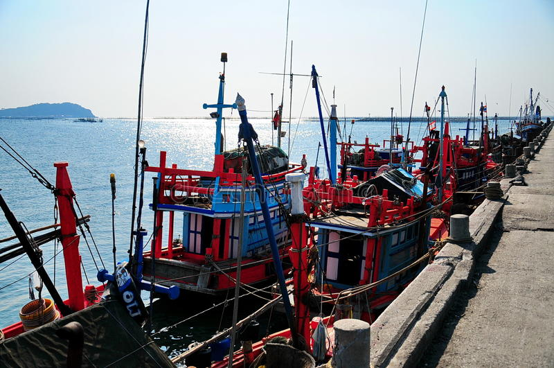 Рыбацкая лодка стоковое фото rf