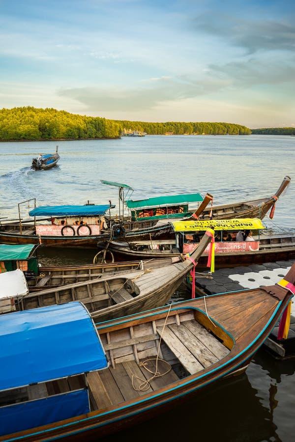 Рыбацкие лодки в Krabi 3 стоковое изображение