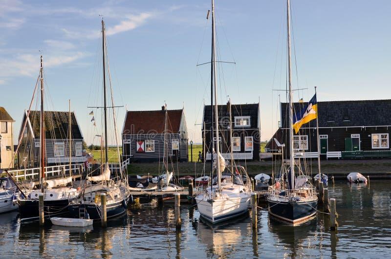 Рыбацкие лодки в Nethelands стоковое фото rf
