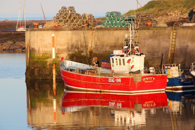 Рыбацкие лодки, гавань Seahouses стоковые фото