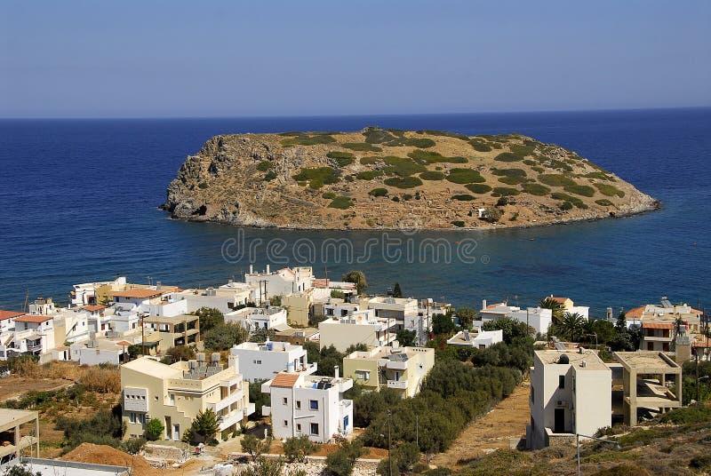 рыбацкий поселок Крита стоковое фото