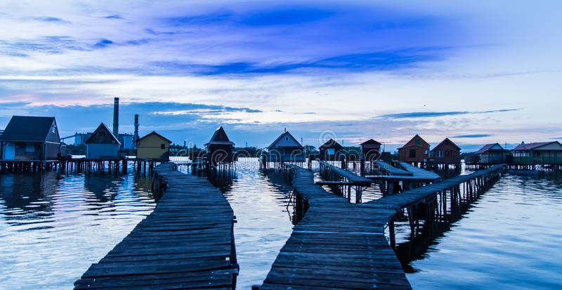 Рыбацкий поселок Bokod стоковое фото