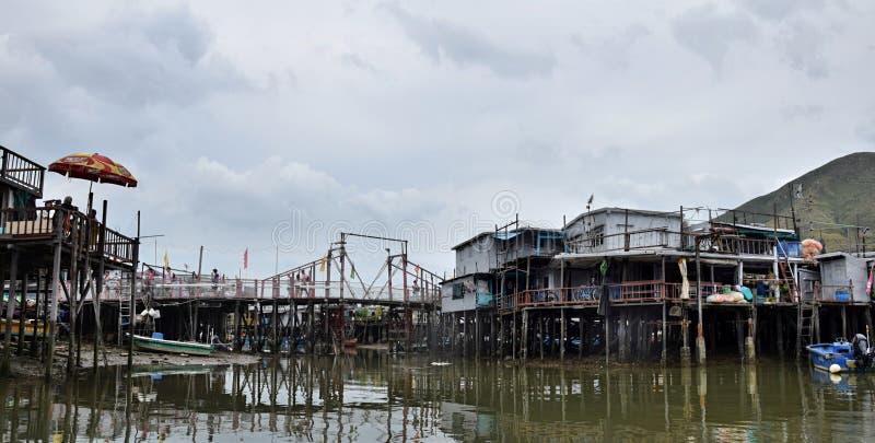 Рыбацкий поселок Tai o в Гонконге стоковое изображение