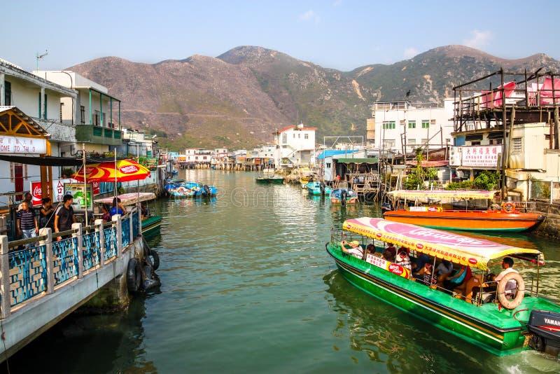 Рыбацкий поселок Tai o на острове Lantau, Гонконге стоковые изображения rf