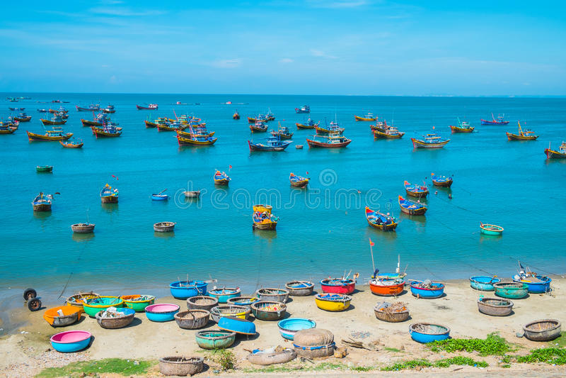 Рыбацкий поселок, Вьетнам стоковая фотография rf