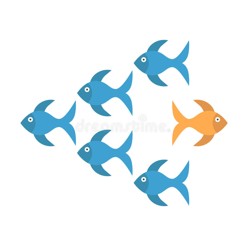 Рыбка принимая другой способ иллюстрация штока