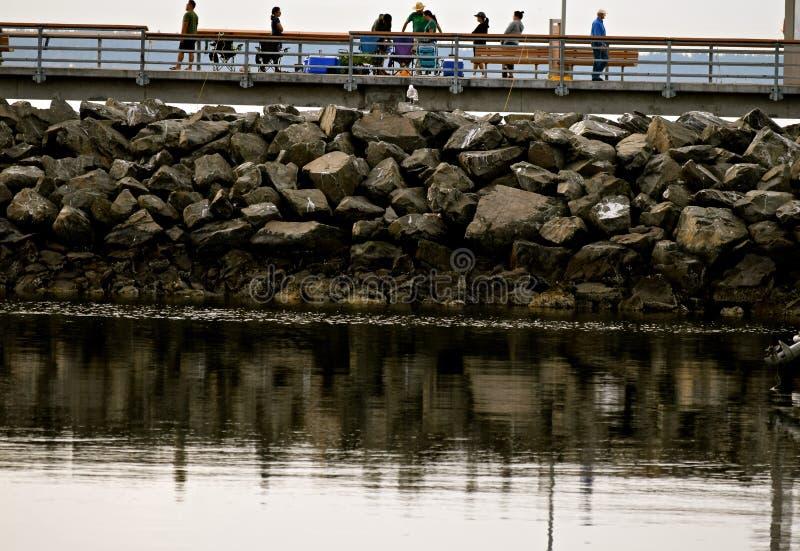 Рыбная ловля и Crabbing пристани Edmonds стоковое изображение rf