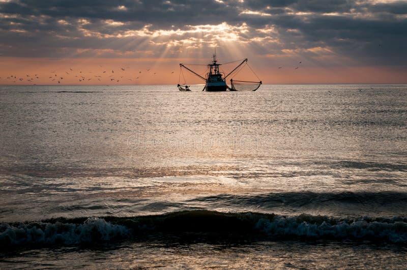 Рыбная ловля краба на Северном море стоковое изображение rf