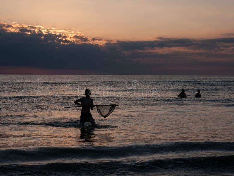 Рыбная ловля краба на Северном море стоковое фото rf